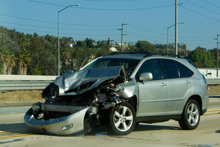 image of car after an accident
