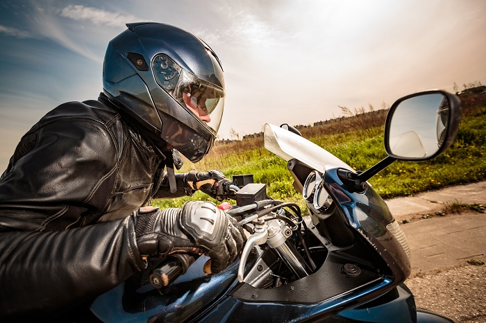 Biker On Open Road